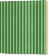 Spring Green Striped Pattern Design Wood Print