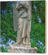 Spring Grove Angel Statue Wood Print
