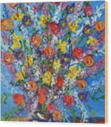 Spring Has Sprung- Abstract Floral Art- Still Life Wood Print