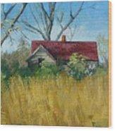 Spring Hay Wood Print