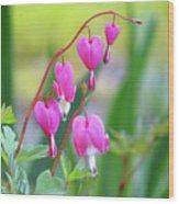 Spring Hearts - Flowers Wood Print