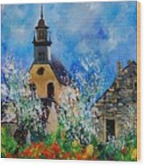 Spring In Foy Notre Dame Dinant Wood Print