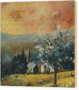 Spring In Gendon Wood Print