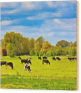 Spring In Holland-1 Wood Print