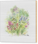 Spring In My Garden Wood Print