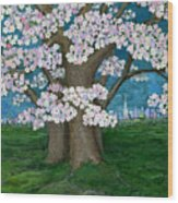 Spring In New York City Wood Print
