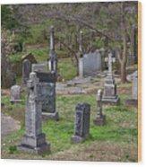 Spring In Oak Hill Cemetery #4 Wood Print