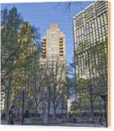 Spring In Philadelphia - Rittenhouse Square Wood Print