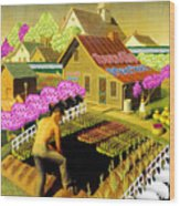 Spring In Townville Wood Print