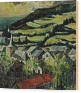 Spring In Vresse Ardennes Belgium Wood Print