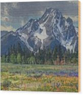 Spring In Wyoming Wood Print