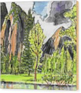 Spring In Yosemite Wood Print