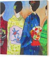 Spring Kimono Wood Print