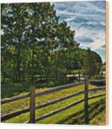 Spring Landscape In Nh 2 Wood Print