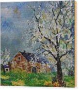 Spring Landscape Wood Print