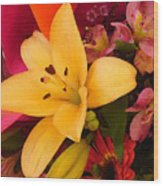 Spring Lily Bouquet Wood Print