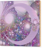 Spring Moon Bubble Fractal Wood Print