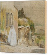 Spring Morning At Montmartre Wood Print by Childe Hassam
