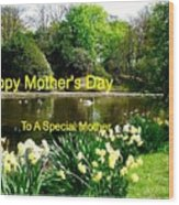 Spring Mother's Day Greeting Wood Print