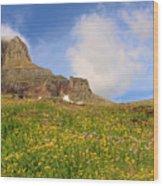 Spring Mountain Wood Print