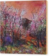 Spring Near My Home Wood Print
