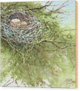Spring Omelet Wood Print