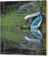 Spring On The Lake Wood Print