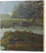 Spring Pasture Wood Print
