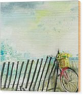 Bicycle Ride. Mayflower Storm. Wood Print