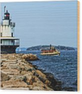 Spring Point Ladge Lighthouse - Maine Wood Print