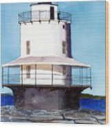 Spring Point Ledge Light Wood Print
