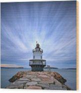Spring Point Ledge Light Station Wood Print