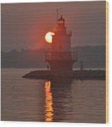 Spring Point Ledge Sunrise Wood Print