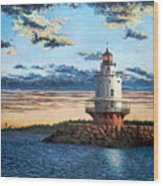 Spring Point Lighthouse Wood Print