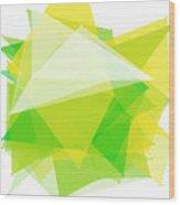 Spring Polygon Pattern Wood Print