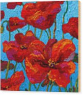 Spring Poppies Wood Print