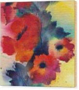 Spring Quartet Wood Print