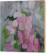 Spring Rain Oil Painting Wood Print