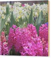 Spring Round Up Wood Print
