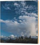 Spring Skies Of The Rogue Valley Wood Print
