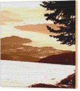 Spring Skiing Wood Print