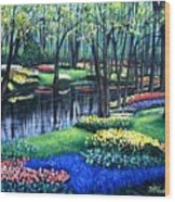 Spring Splendor Tulip Garden Wood Print