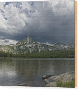 Spring Storm At Anthony Lake Wood Print