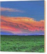 Spring Storm Over Wausau Wood Print