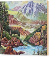 Spring Thaw High In The Rockies. Wood Print