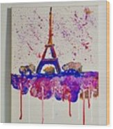 Spring Time. Paris. Eiffel Tower.  Wood Print