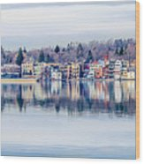 Spring Time Waterfront Wood Print