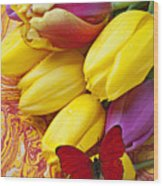 Spring Tulips Wood Print by Garry Gay