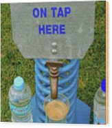 Spring Water On Tap Here Wood Print