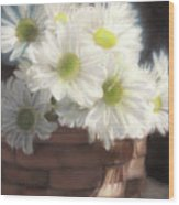 Spring White Daisies Wood Print by Melissa Herrin